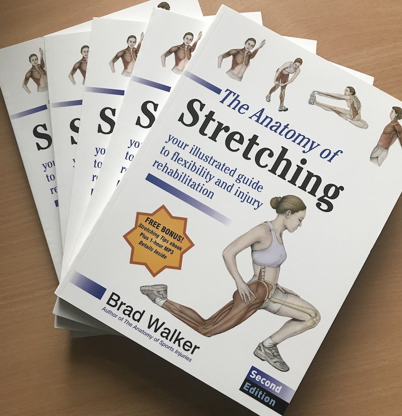 photo of stretching books