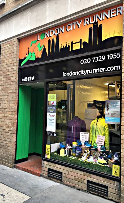 link to online overview of available booking slots at London City Runner